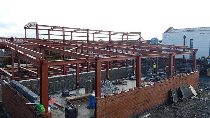 Our next challenge, steelwork almost complete on Our La...